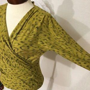 MaxMara Sweaters - MAX MARA leopard wool wrap sweater M